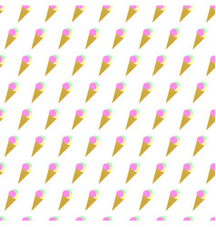 seamless pattern summer beach ice cream cone vector image vector image