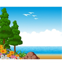 summer landscape for you design vector image vector image
