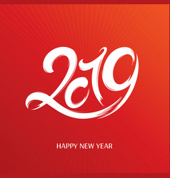 2019 new year greeting card vector image