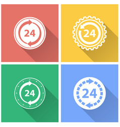 24 hour service - icon vector