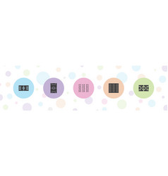 5 pitch icons vector