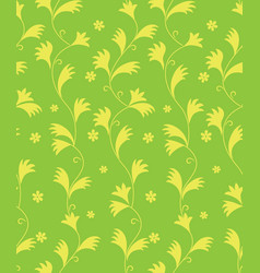 abstract floral pattern leaves swirl seamless vector image