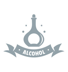 alcohol logo simple gray style vector image