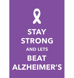 alzheimers poster vector image