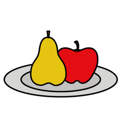 apple and fruits design vector image