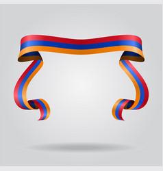 Armenian flag wavy ribon background vector