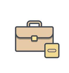 Bag briefcase business portfolio stop vector