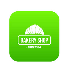 bakery icon green vector image