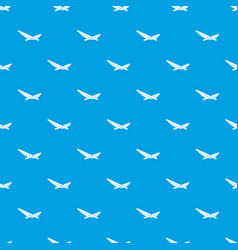 beach chaise pattern seamless blue vector image