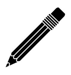 black contour pencil icon stock vector image