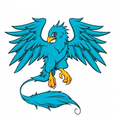 blue phoenix vector image