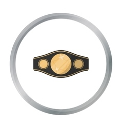 Boxing championship belt icon in cartoon style vector image