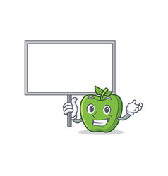 bring board green apple character cartoon vector image