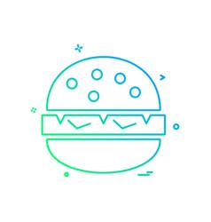 burger icon design vector image