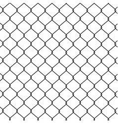 chain link fence vector image