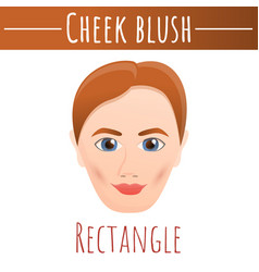 Cheek blush rectangle concept background cartoon vector