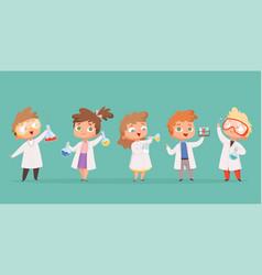 chemistry kids science children school characters vector image
