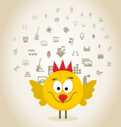 Chicken art vector
