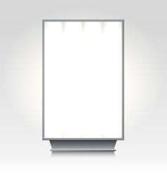 City lightbox billboard vector