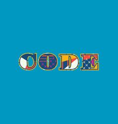 Code concept word art vector
