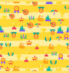 color awards seamless flat pattern vector image