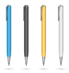 Colored pens vector image