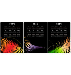 colorful calendar design set vector image