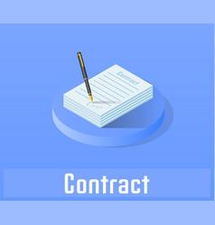 Contract icon symbol vector