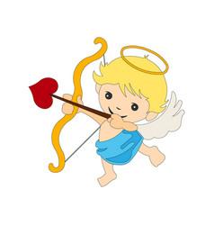 Cupid valentine angel vector