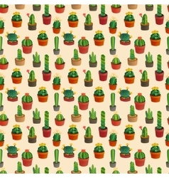 Cute cartoon cactus collection vector