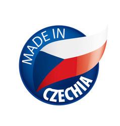 czechia flag on a white vector image
