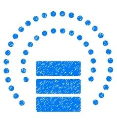 Database Sphere Shield Grainy Texture Icon vector