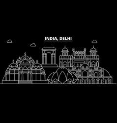 Delhi silhouette skyline india - delhi vector