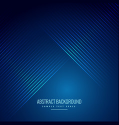 Diagonal smooth lines in blue background vector