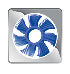 engineering communications tunnel fan vector image