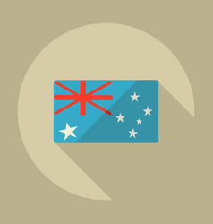 Flat modern design with shadow icons australia vector