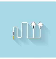 Flat web icon Headphones vector image