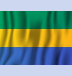 Gabon realistic waving flag national country vector