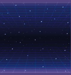 Galaxy with stars and geometric graphic style vector