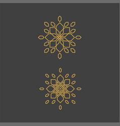 geometric arabic ornamental symbols template vector image