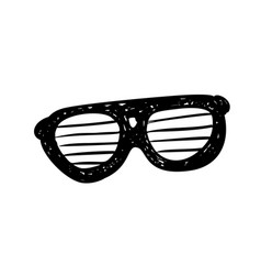 glasses sunglasses hand drawn vector image