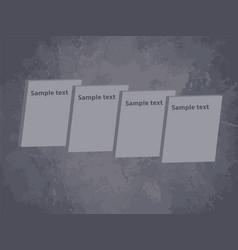 gray retro design text box on grunge grey vector image