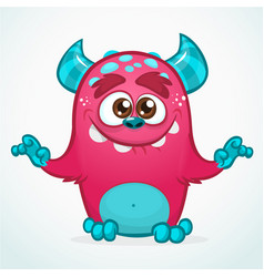 happy cartoon monster vector image