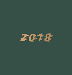 Happy new year 2018 golden text design dynamic vector