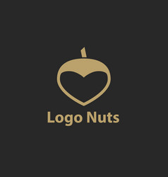 hazelnut logo flat of hazelnut vector image