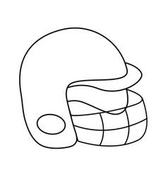 Helmet baseball related icon image vector
