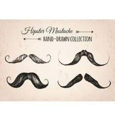 Hipster fashion vintage elements hand-drawn vector image