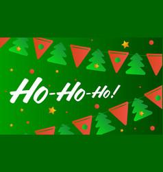 ho ho ho merry christmas vector image