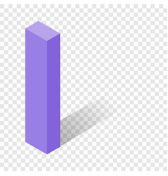i letter in isometric 3d style with shadow vector image