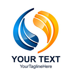 initial letter s logo design template element vector image